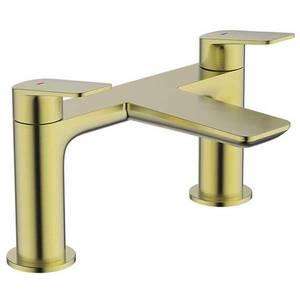 Aero Deck Mounted Bath Filler in Brushed Brass