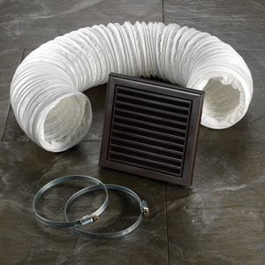 Brown Flexible Ducting For Wall Mounted Extractor Fan