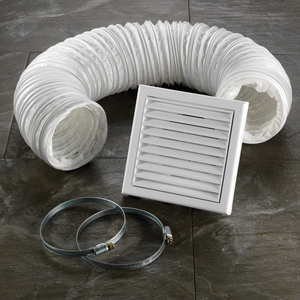 White Flexible Ducting For Wall Mounted Extractor Fan
