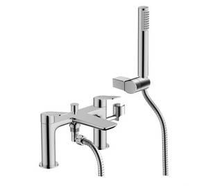 Aero Deck Mounted Bath Shower Mixer in Chrome