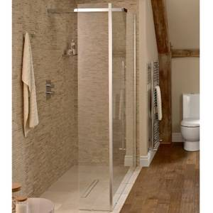 Playtime 1200mm Walk-Through Shower with Integrated Head & Side Screen