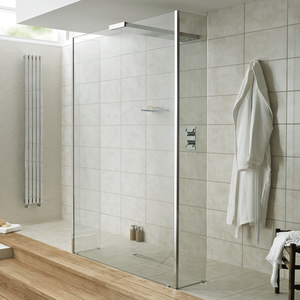 Playtime 900mm Walk-Through Shower with Integrated Shower Head & Side Screen