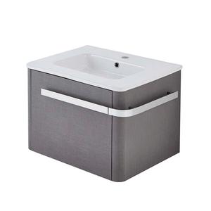 Linen 600mm Basin & Wall Mounted Vanity Unit - Grey