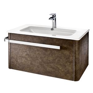 Linen 800mm Basin & Wall Mounted Vanity Unit - Rust
