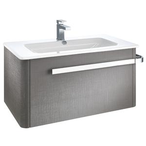 Linen 800mm Basin & Wall Mounted Vanity Unit - Grey