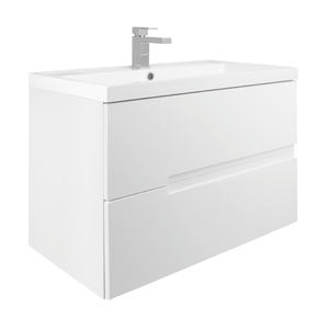 Vermont 800mm Wall Mounted Vanity Unit - Gloss White