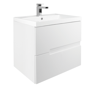 Vermont 600mm Wall Mounted Vanity Unit - Gloss White