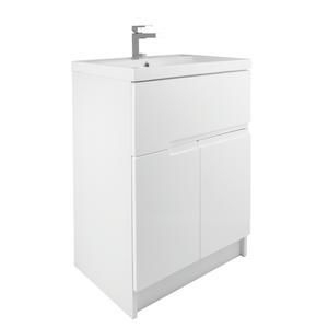 Vermont 600mm Floorstanding Vanity Unit - Gloss White