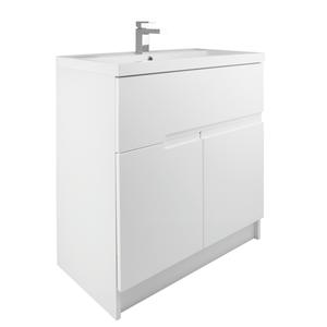 Vermont 800mm Floorstanding Vanity Unit - Gloss White
