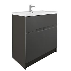 Vermont 800mm Floorstanding Vanity Unit - Gloss Grey