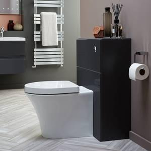 Vermont 600mm Toilet Unit - Gloss Grey