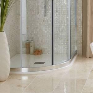 Everstone Offset Quadrant  Left Hand Shower Tray 1200 x 800mm