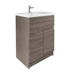 Vermont 600mm Floorstanding Vanity Unit - Grey Avola
