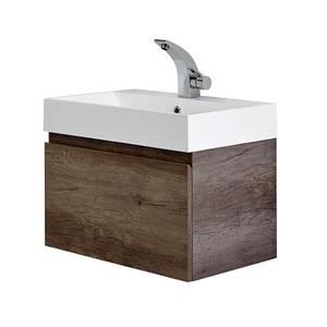 Mino 600mm Basin & Wall Mounted Vanity Unit - Nebraska Oak