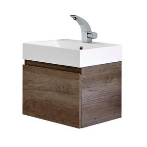 Mino 500mm Basin & Wall Mounted Vanity Unit - Nebraska Oak