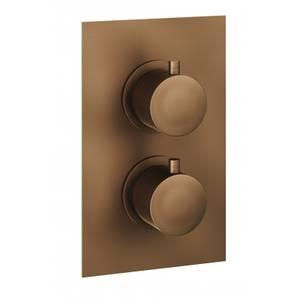 Etta Round Thermostatic Shower Valve in Bronze - 1 Outlet