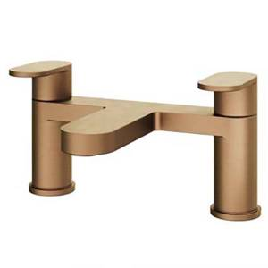 Etta deck mounted bath filler in bronze