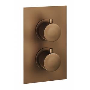 Etta Round Thermostatic Shower Valve in Bronze - 2 Outlet