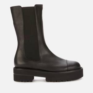 Stuart Weitzman Women's Presley Ultralift Leather Mid Calf Boots - Black
