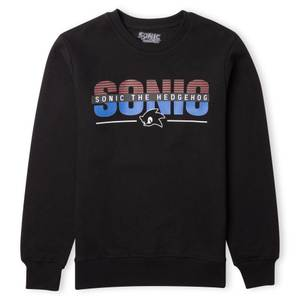 Sonic The Hedgehog Logo Sweatshirt - Black