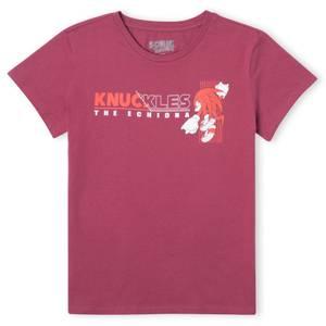 Sonic The Hedgehog Knuckles The Echidna Women's T-Shirt - Burgundy