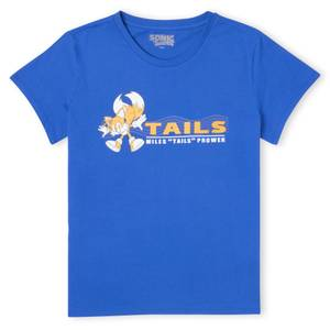 Sonic The Hedgehog Miles 'TAILS' Prower Women's T-Shirt - Royal Blue