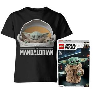 Lot Star Wars : Set LEGO L'Enfant The Mandalorian (75318) + T-Shirt Enfant