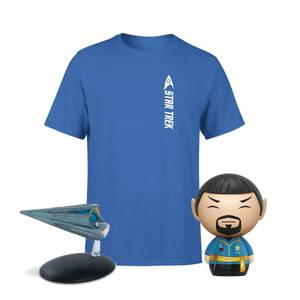 Lot Star Trek : T-Shirt + Figurine Spok & Vaisseau Spatial