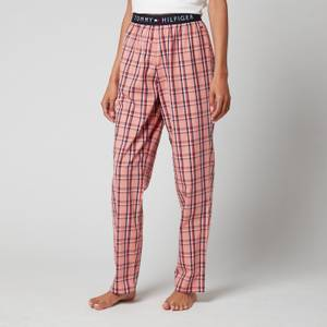 Tommy Hilfiger Women's Organic Cotton Woven Pants - Candy Plaid