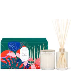 CIRCA Home Christmas Jasmine and Magnolia Candle Diffuser Gift Set