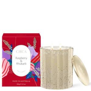 CIRCA Home Christmas Raspberry and Rhubarb Candle 350g
