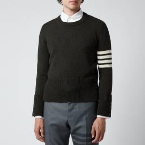 Thom Browne Men's Four-Bar Shetland Wool Jumper - Dark Green
