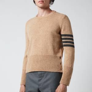 Thom Browne Men's Four-Bar Shetland Wool Jumper - Camel