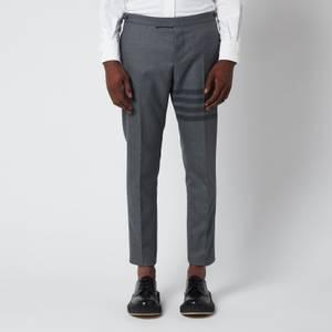 Thom Browne Men's Low Rise Skinny Side Tab Trousers - Medium Grey
