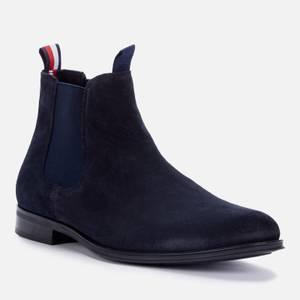 Tommy Hilfiger Men's Casual Suede Chelsea Boots - Desert Sky