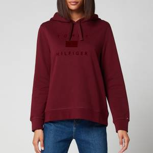 Tommy Hilfiger Women's Organic Cotton Regular Hoodie - Deep Rouge