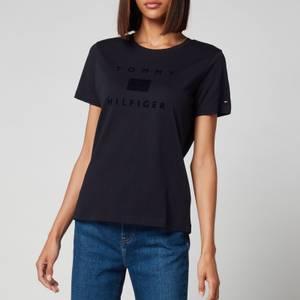 Tommy Hilfiger Women's Organic Cotton Regular T-Shirt - Desert Sky