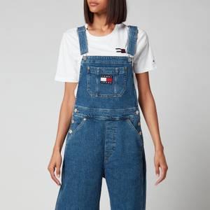 Tommy Jeans Women's Denim Dungarees - Denim Medium