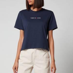 Tommy Jeans Women's Linear Logo T-Shirt - Twilight Navy