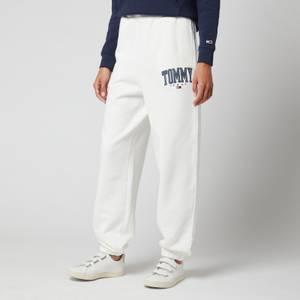 Tommy Jeans Women's Abo Tjw Collegiate Sweat Pants - Ivory Silk