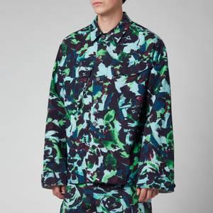 KENZO Men's Printed Workwear Jacket - Grass Green