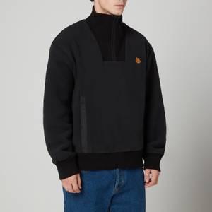KENZO Men's Polar High Neck Fleece Jacket - Black