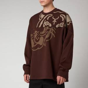 KENZO Men's K-Tiger Seasonal Sweatshirt - Dark Brown