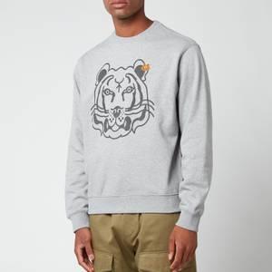 KENZO Men's K-Tiger Classic Sweatshirt - Pearl Grey