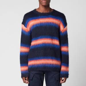 KENZO Men's Striped Comfort Jumper - Midnight Blue