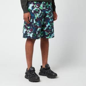 KENZO Men's Printed Cargo Shorts - Grass Green