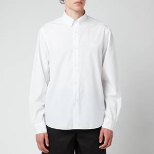 KENZO Men's Tiger Crest Poplin Button Down Shirt - White