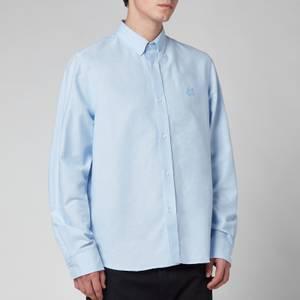 KENZO Men's Tiger Crest Oxford Button Down Shirt - Light Blue