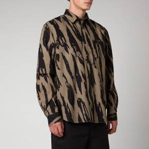KENZO Men's Printed Casual Shirt - Bronze