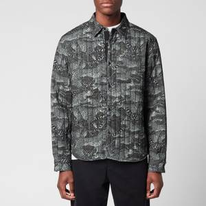KENZO Men's Printed Quilted Shirt - Lime Tea